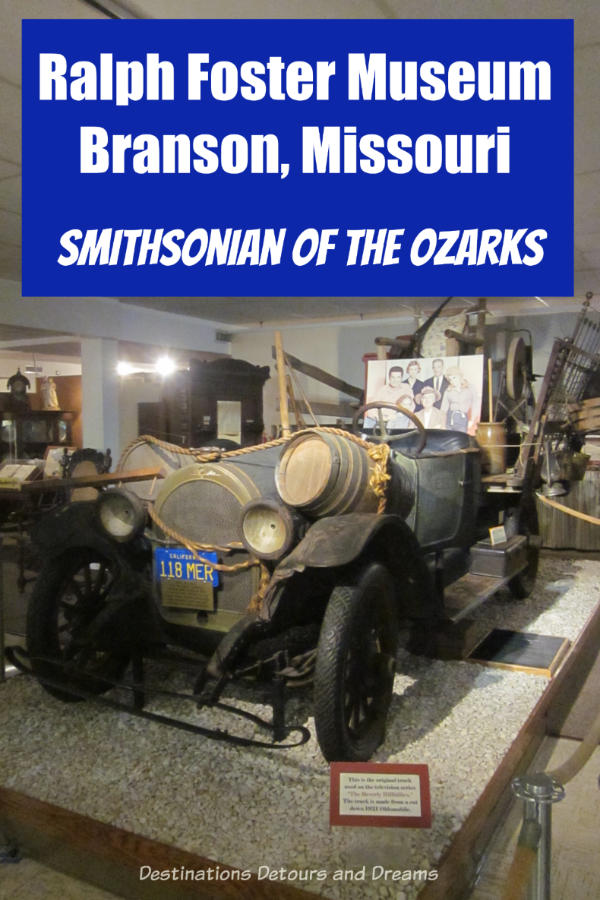 The Beverley Hillbillies car is one of an extensive and eclectic collection of artifacts at Ralph Foster Museum in Branson, Missouri #Branson #Missouri #Ozarks #museum #history