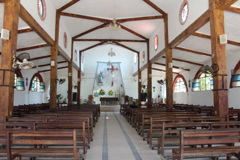 Inside Our Lady of Peace Church, Bucerías, Mexico