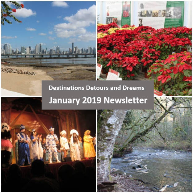 Destinations Detours and Dreams January 2019 Newsletter