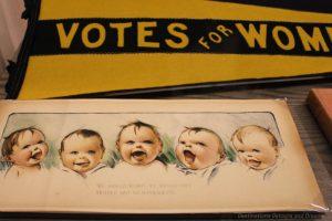 Poster at Manitoba Museum suffragette exhibit