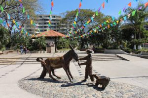 Statue in Lazaro Cardenas Park in Puerto Vallarta, Mexico