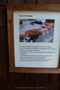 About cheese packaging at Salt Spring Island Cheese Company, Canada