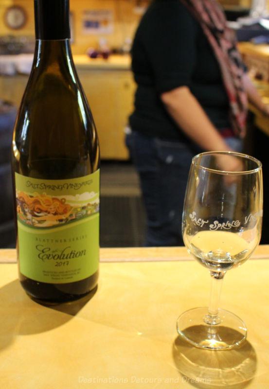 Wine tasting at Salt Spring Vineyard, British Columbia, Canada