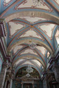 Ceiling of Iglesia San Sebastián in San Sebastián del Oeste, Mexico
