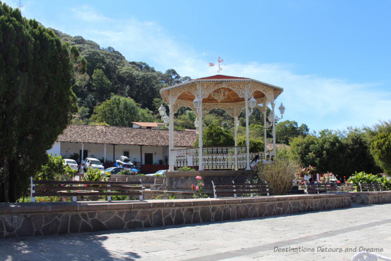 Gazebo in central plaza in San Sebastián del Oeste, Mexico