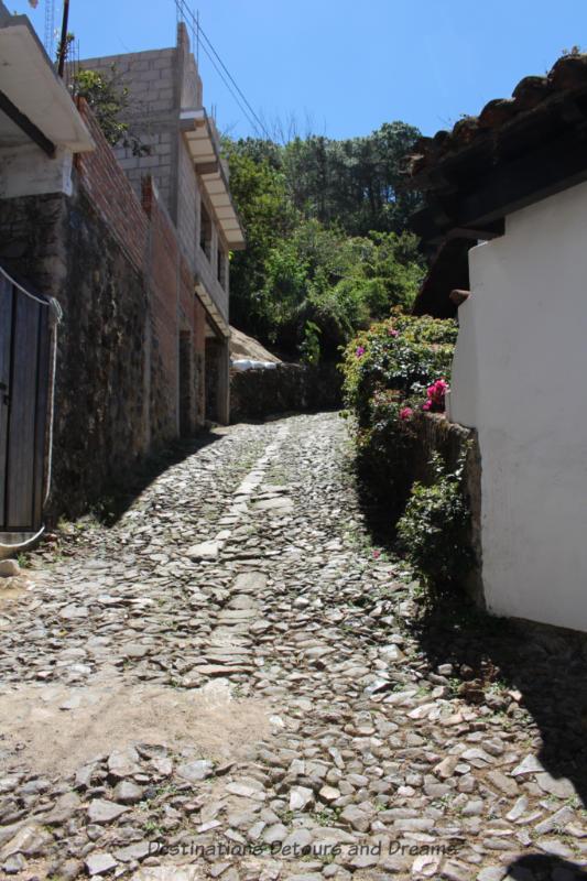 Cobblestone hill in Sebastián del Oeste, Mexico