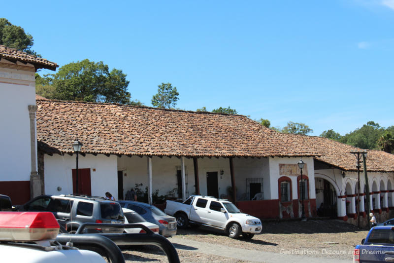 An old house adapted for use as a municipal building in San Sebastián del Oeste, Mexico