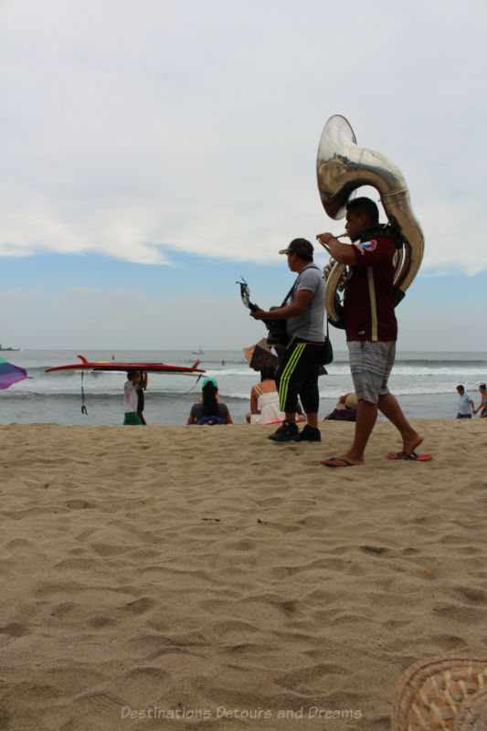 Beach entertainers, Sayulita, Mexico