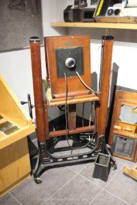 Old camera at Winnipeg Police Museum