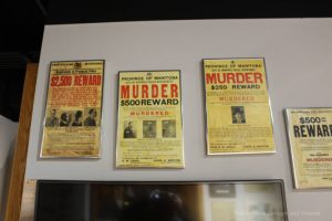 Wanted posters at the Winnipeg Police Museum