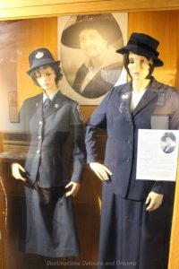 Policewomen uniforms at the Winnipeg Police Museum