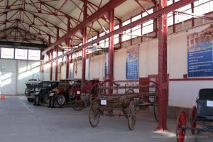Inside the former warehouse of the Yuma Quartermaster Depot in Arizona