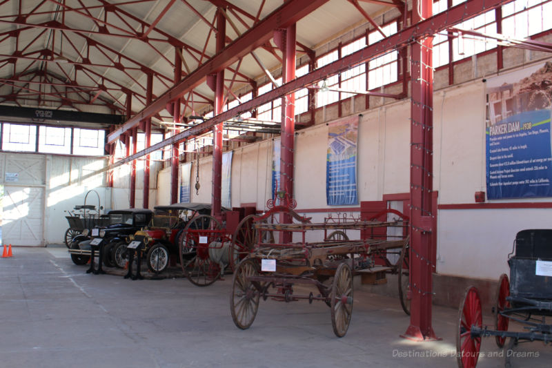 Inside the former warehouse of the Yuma Quartermaster Depot in Arizona