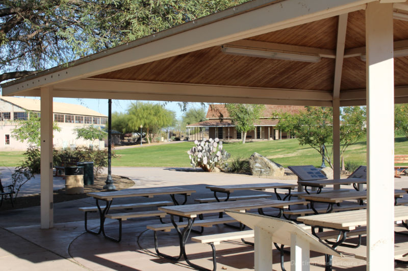 Picnic area at Colorado River State Historic Park in Yuma, Arizona
