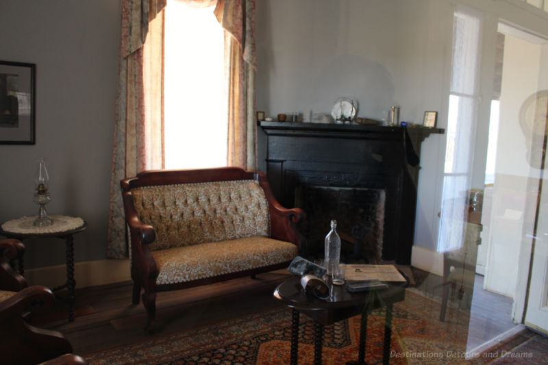 Sitting room in Commanding Officer Quarters at Yuma Quartermaster Depot