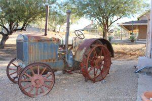 Old tractor at Colorado River State Historic Park in Yuma, Arizona