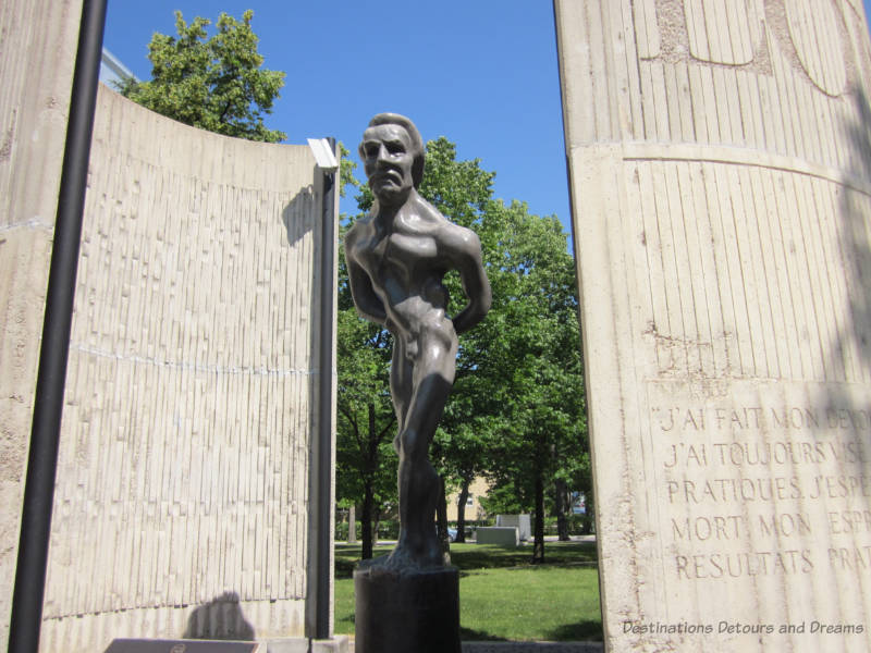 Louis Riel statue by Marcien Lemay on the grounds of St. Boniface College in Winnipeg, Manitoba, Canada