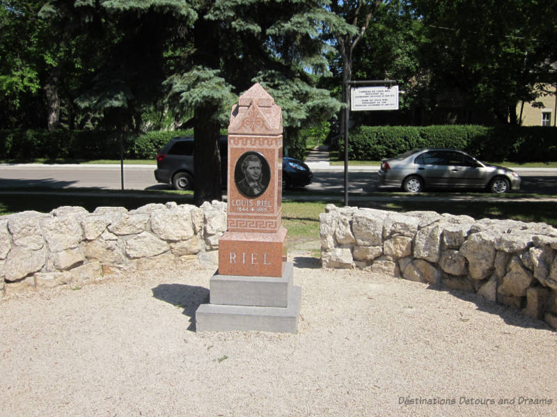 Louis Riel tombstone in St. Boniface Cementery in Winnipeg, Manitoba
