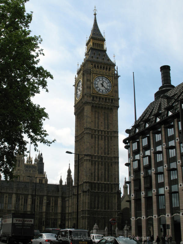 Big Ben clock and tower in London, England