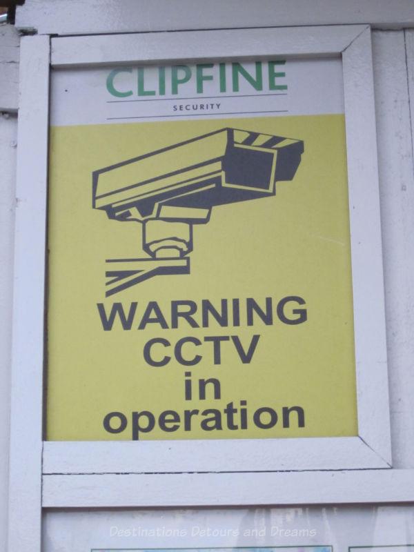 CCTV sign in London