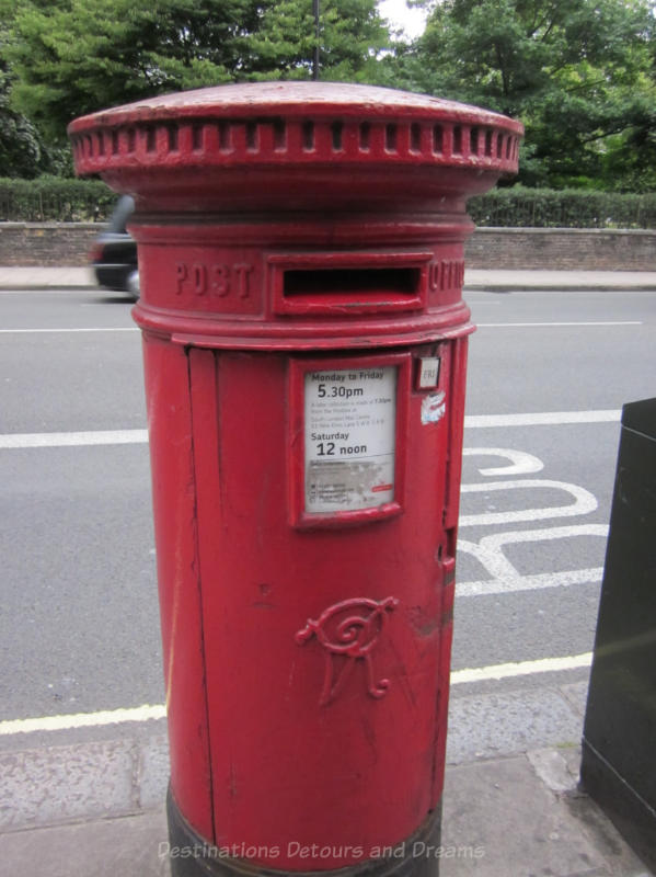 Iconic Royal Mail post box