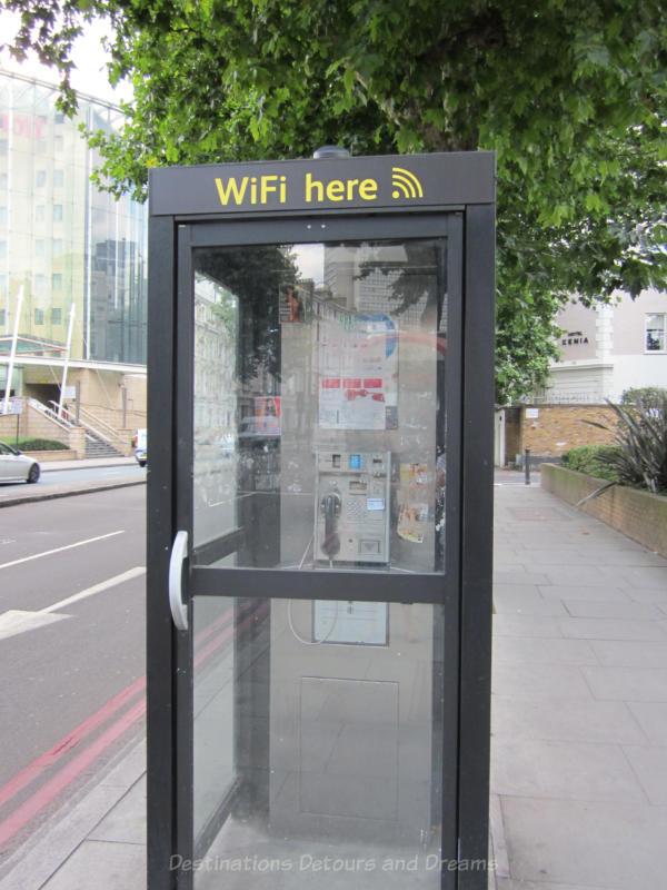 WiFi station in London