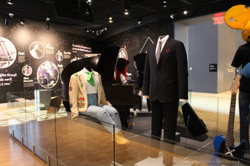 Display of outfits and instruments from Canadian music icons in the National Music Centre
