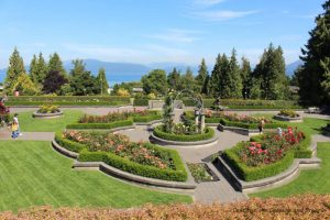 Rose Garden at University of British Columbia campus, Vancouver, Canada