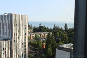 View from Ponderosa suite at University of British Columbia, an affordable option to hotels in Vancouver