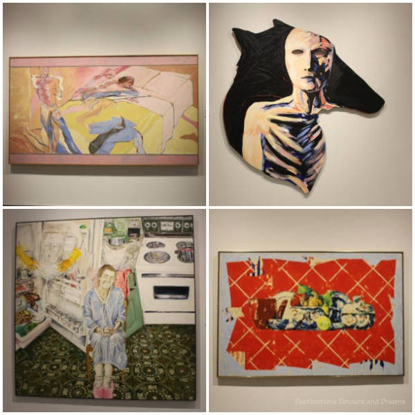 A collection of 4 artworks from the Winnipeg Art Gallery's The 80s Image exhibition