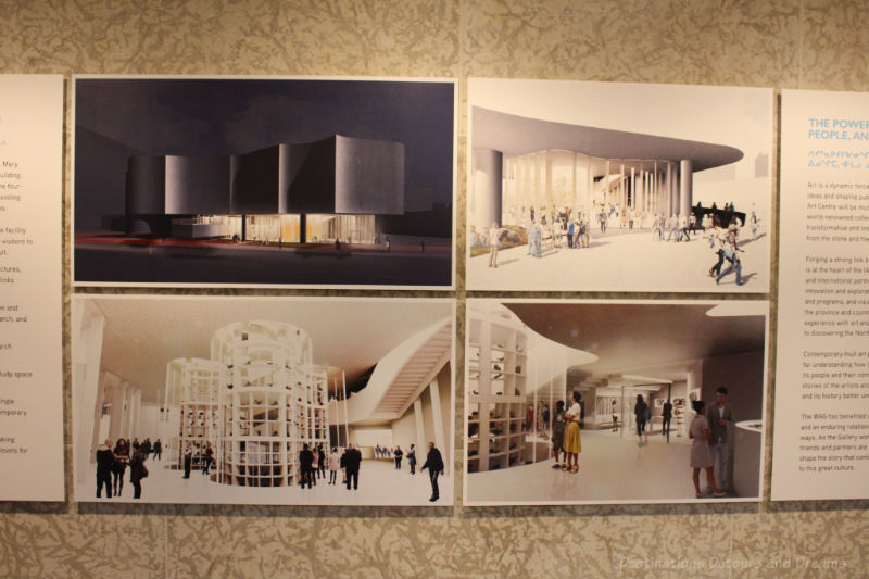 Drawings of what the future Inuit Art Centre will look like