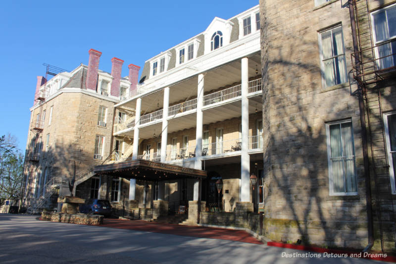 Front of Crescent Hotel in Eureka Springs, Arkansas