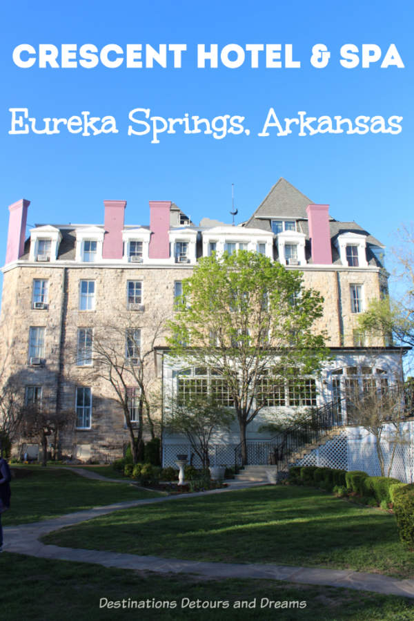 Crescent Hotel & Spa is a historic hotel in Eureka Springs, Arkansas offering a modern day comfortable stay. It is also known as America's Most Haunted Hotel. #Arkansas #EurekaSprings #accommodations #hauntedhotel