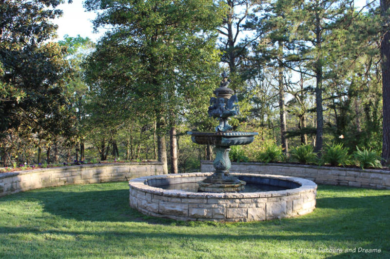 Fountain on the grounds of Crescent Hotel & Spa in Eureka Springs, Arkansas