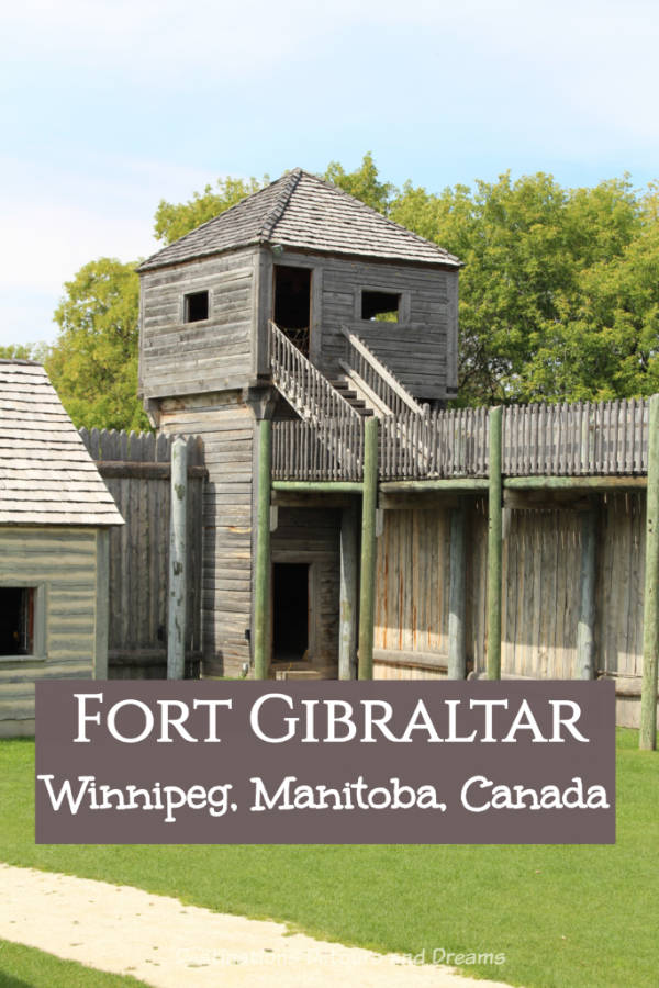 Step back in time to the days of the voyageurs in Canada's fur-trade era with costumed interpreters and reconstructed buildings at Fort Gibraltar in Winnipeg, Manitoba #Canada #Manitoba #Winnipeg #history #furtradeera