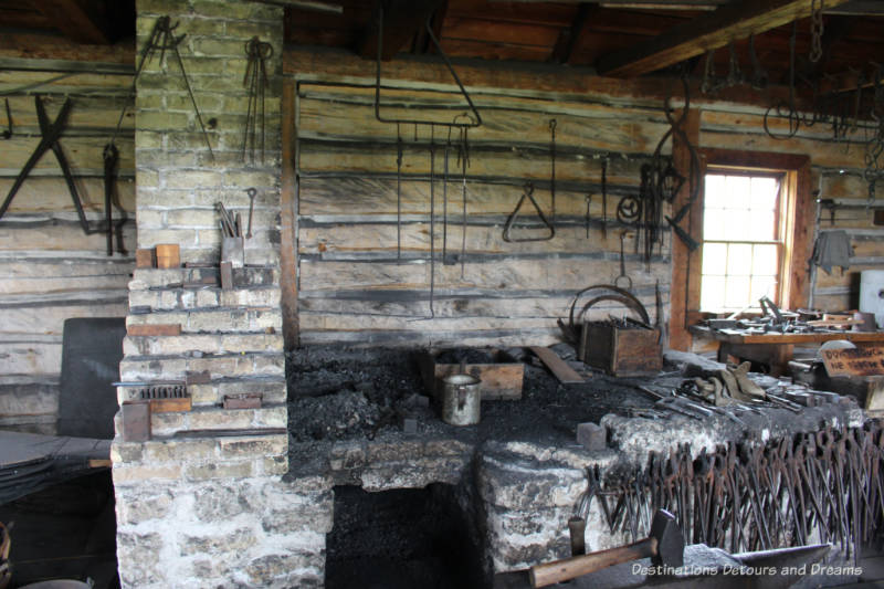 Blacksmith shop at Lower Fort Garry