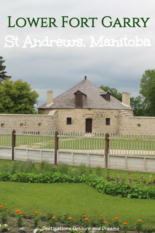 The restored Lower Fort Garry National Historic Site, near Winnipeg, Manitoba, recreates life in the 1850s fur-trade era. #Manitoba #Winnipeg #museum #NationalHistoricSite #Canada