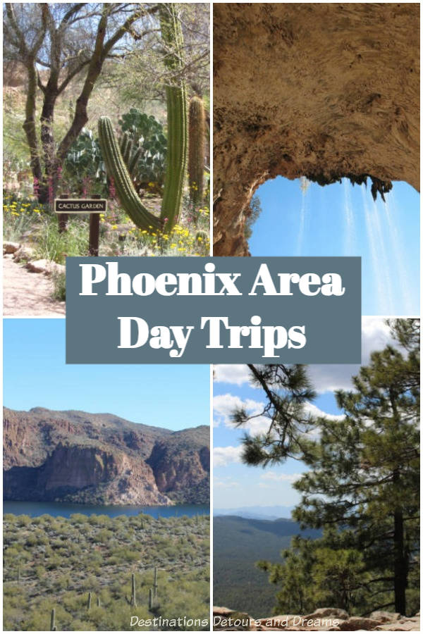 Phoenix Area Day Trips: Apache Trail, Mogollon Rim, Tonto Natural Bridge, Desert Belle cruise, Boyce Thompson Arbortem, and Kartchner Caverns