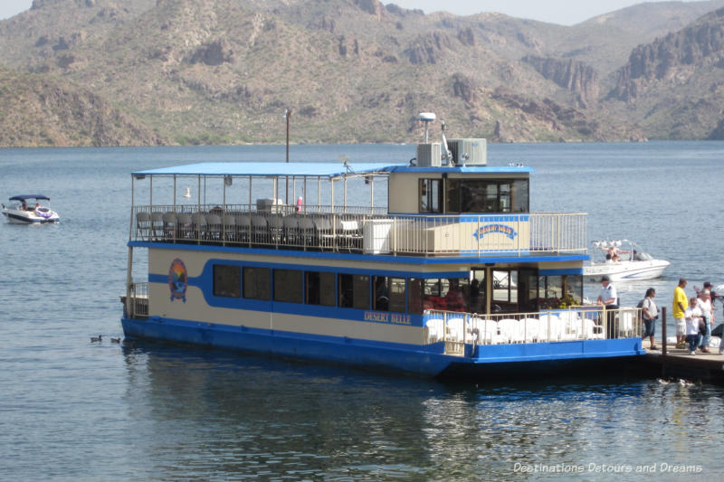 Desert Belle boat on Saguaro Lake