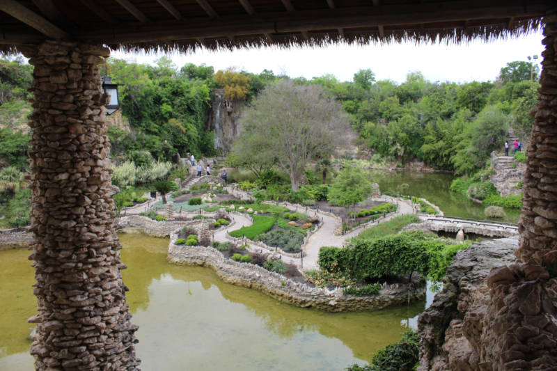 San Antonio Japanese Tea Garden viewed from the Pavilion