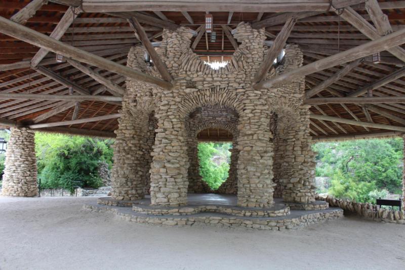 Inside the Pavilion at San Antonio Japanese Tea Garden