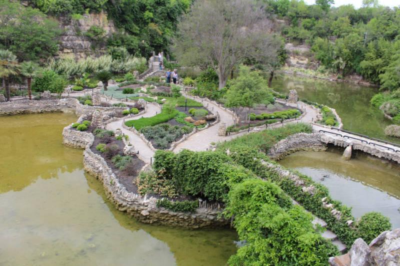 View of San Antonio Japanese Tea Garden from above