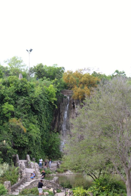 Waterfall in San Antonio Japanese Tea Garden