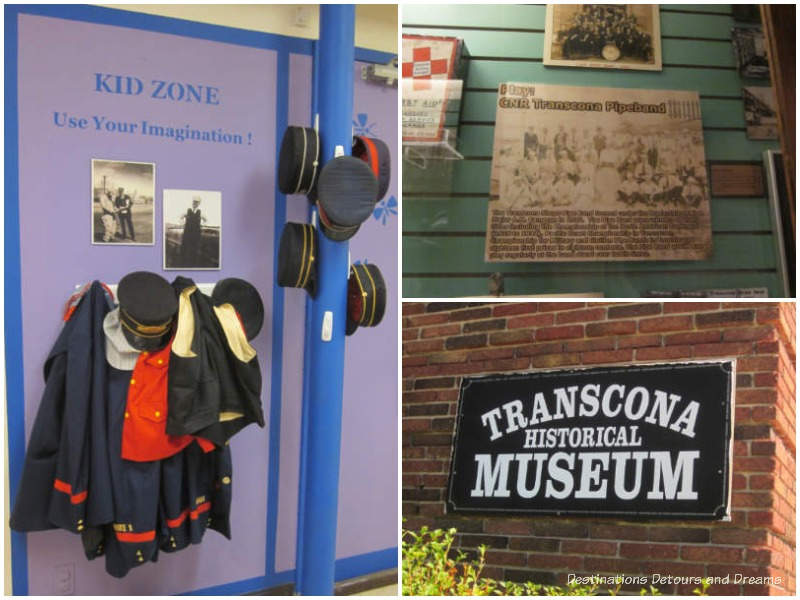 Displays at Transcona Museum in Winnipeg, Manitoba