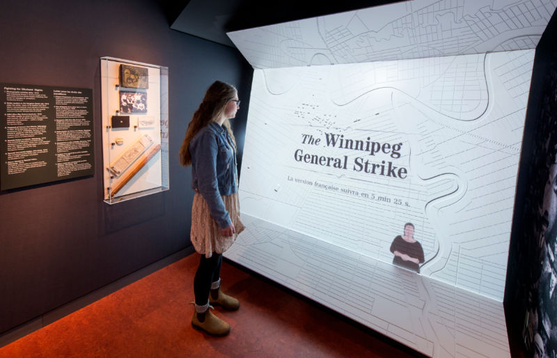 1919 Winnipeg General Strike exhibit at Canadian Museum for Human Rights