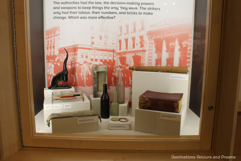 Collection of artifacts on display at Dalnavert STRIKE 1919: Our Cause is Just exhibit