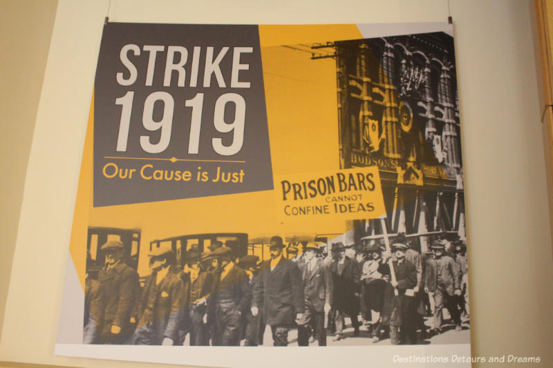 Poster from STRIKE 1919: Our Cause is Just exhibit at Dalnavert