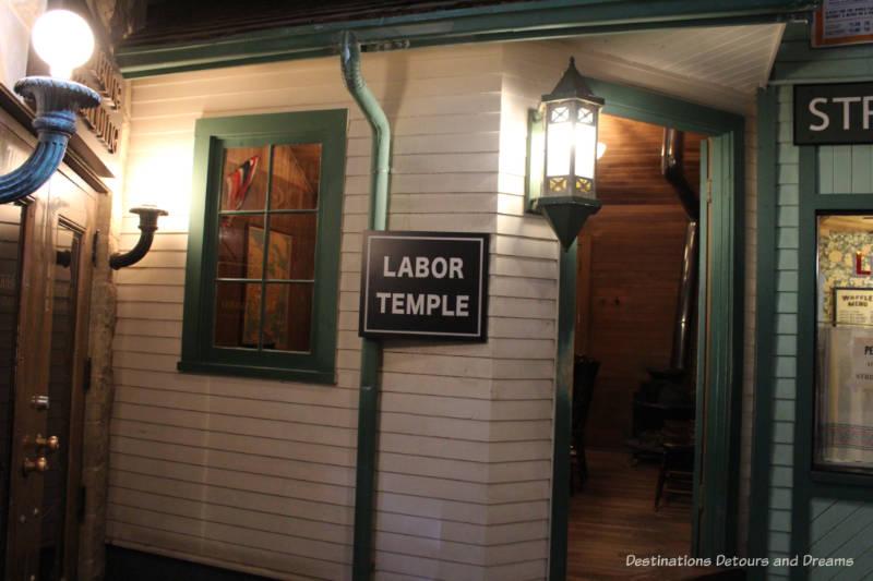 Labor Temple at Manitoba Museum exhibit