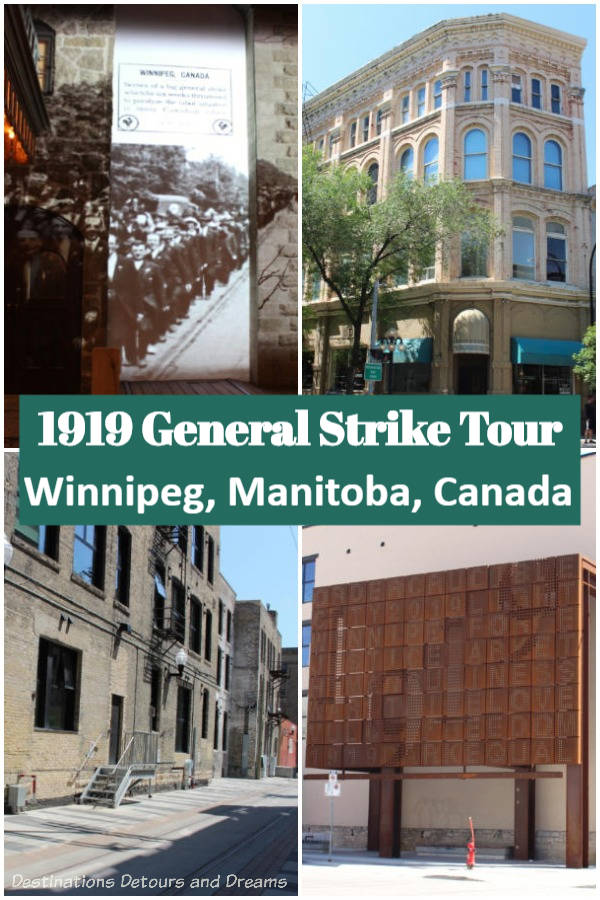 1919 Winnipeg General Strike Tour. A number of attractions in Winnipeg, Manitoba, Canada offers visitors the opportunity to explore the history and stories of the 1919 Winnipeg General Strike. #history #Canada #Winnipeg #Manitoba #museum #1919Strike