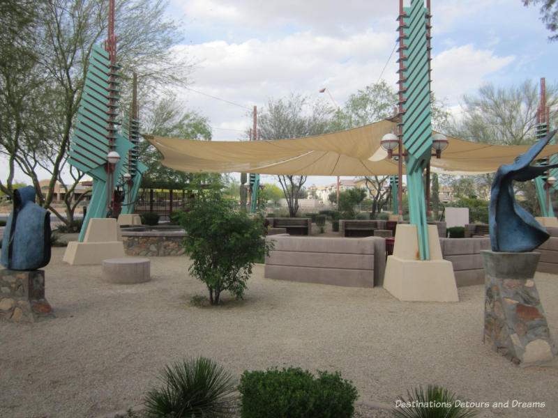 Park area at foot of Scottsdale Spire